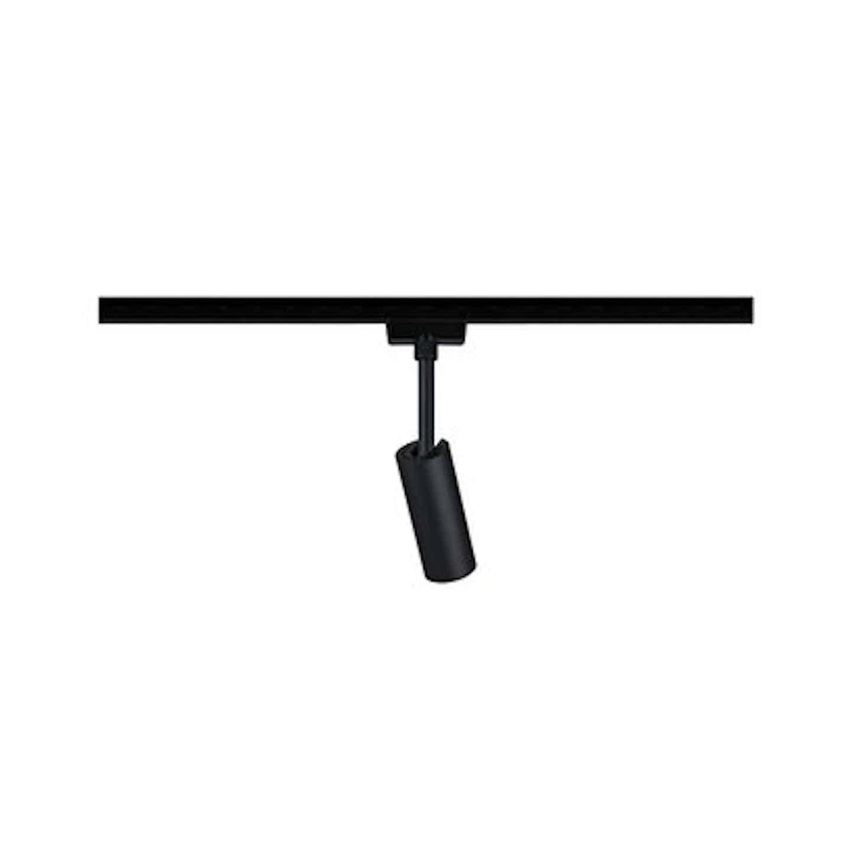 Paulmann URail Spot Tubo 1x5W Schwarz matt 230V Metall/Kunststoff 3000K non-dim