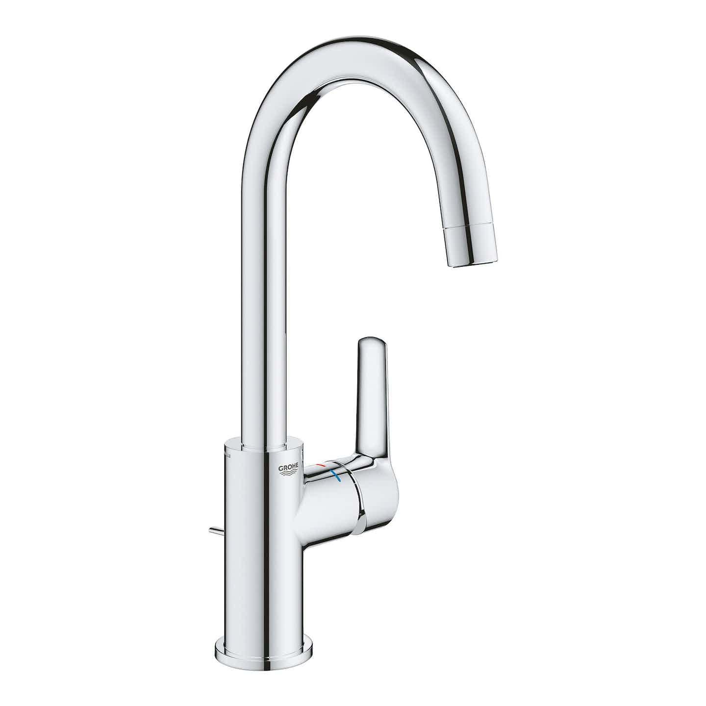 Grohe Waschtischarmatur Start L-Size mit Zugstangen-Ablaufgarnitur 1 1/4