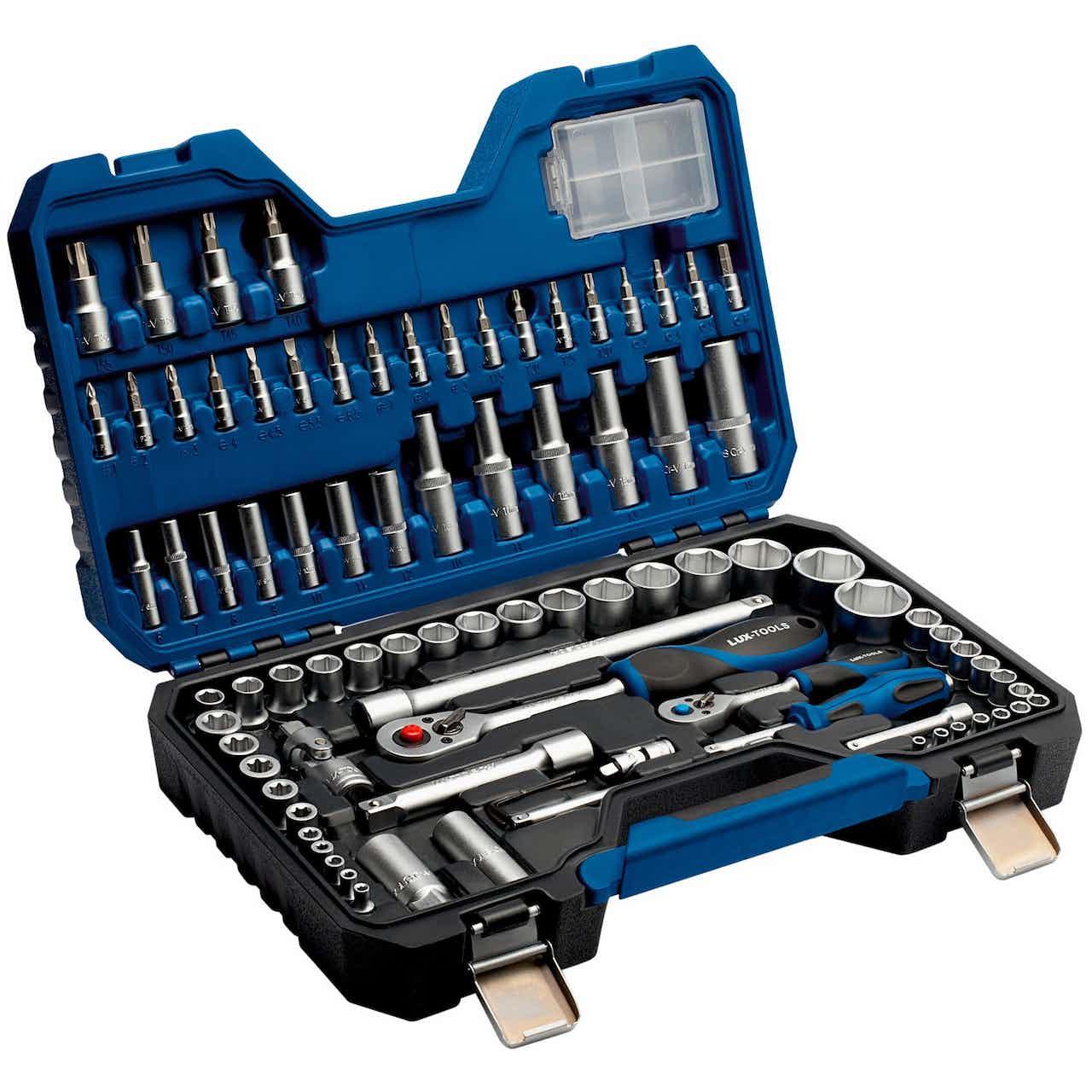 """LUX Steckschlüsselsatz Comfort 6,3 mm (1/4"""") und 12,7 mm (1/2"""") 89-teilig"""