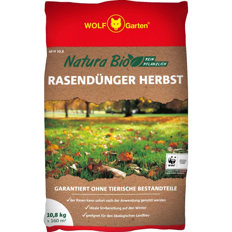 Wolf Rasendünger Natura Bio Herbst 10,8 kg
