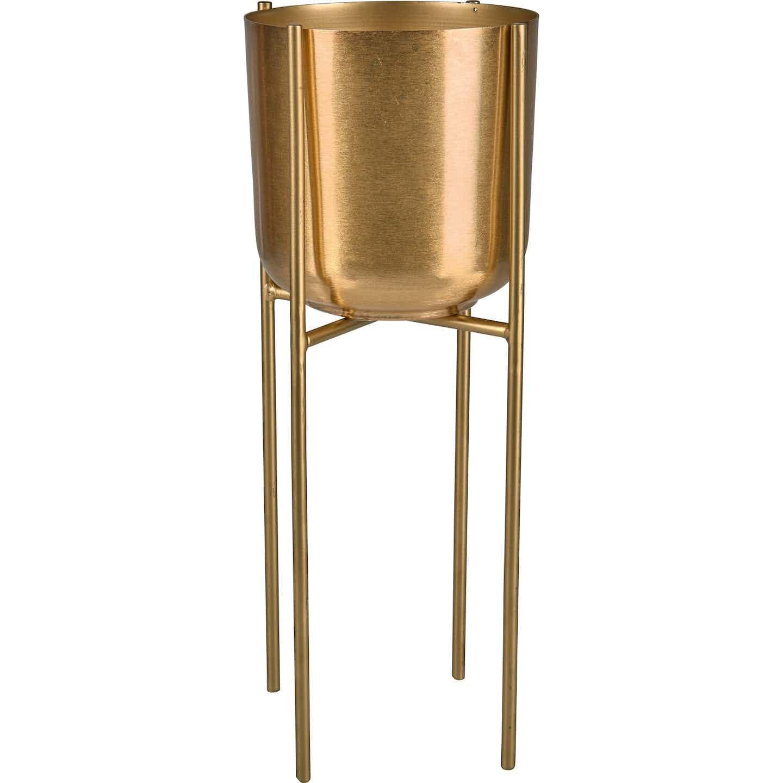 Pflanztopf Safari Lodge Metall Ø 15 cm Gold