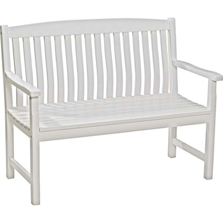 Gartenbank Glendale 2-Sitzer Weiß FSC® 93 cm x 120 cm x 60 cm