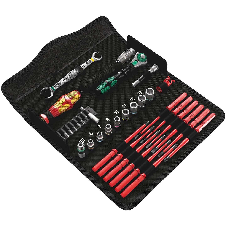 Wera Werkzeugset 35-teilig Kraftform Kompakt W 1 mit Tasche
