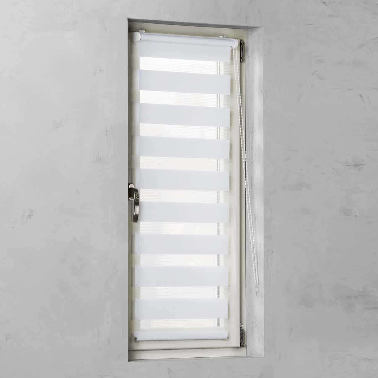 Cocoon Easy Fix Doppelrollo Tageslicht Weiß 45 cm x 150 cm