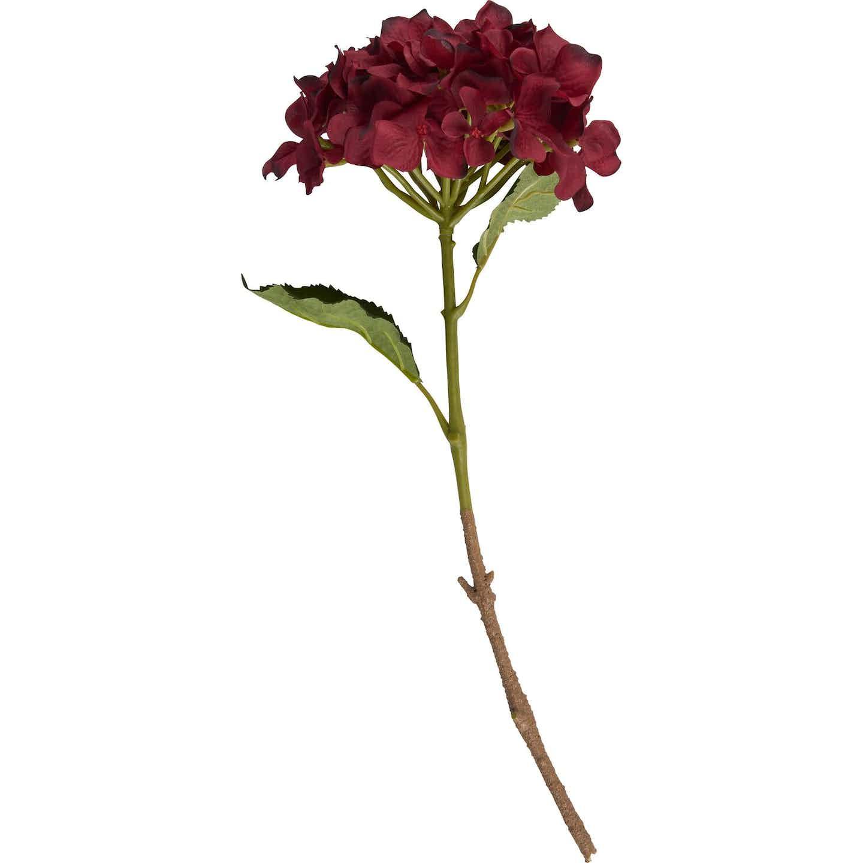 Kunstpflanze Hortensie Blush Bordeaux 48 cm