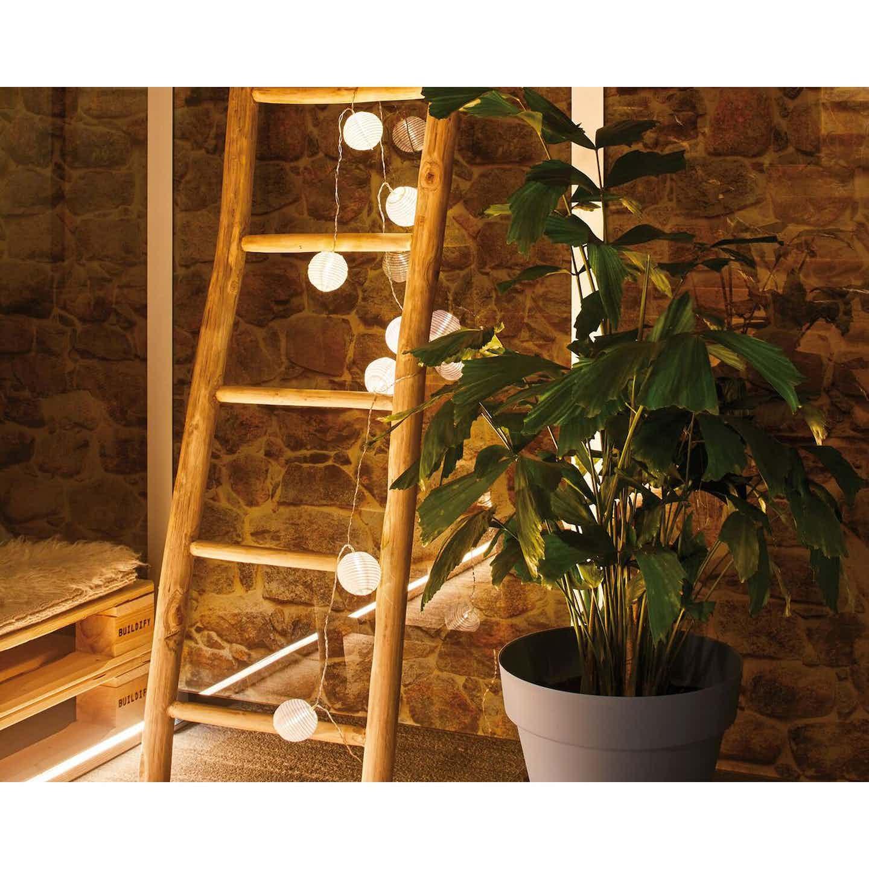 Paulmann Outdoor Lichterkette Mobile Lampion Weiß IP44