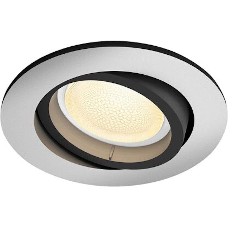 Philips Hue LED-Einbauspot Centura White & Color Ambiance rund Aluminium EEK: A+