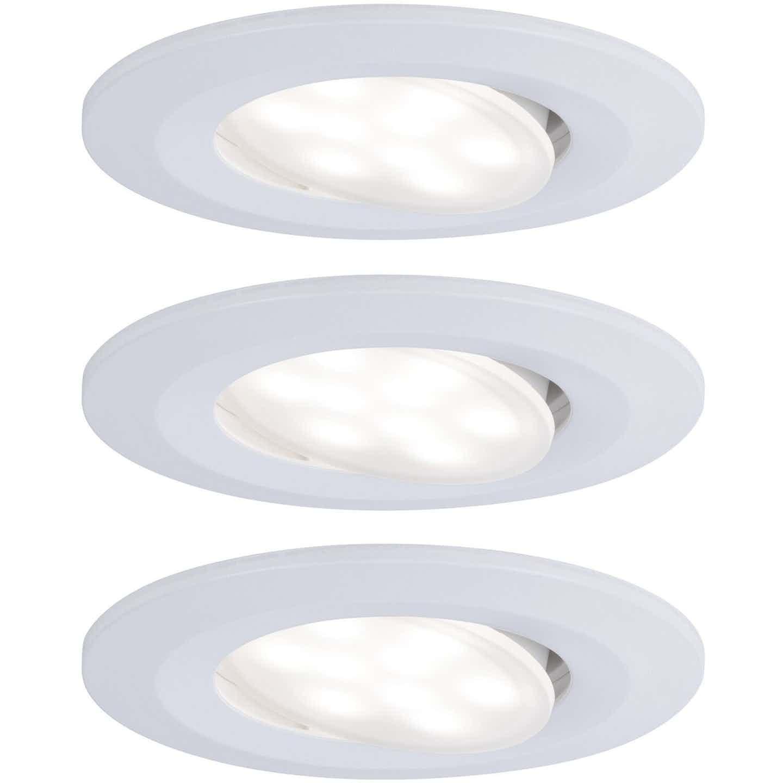 Paulmann LED Einbauleuchte Calla rund 3x6W  Weiß matt schwenkbar 4000K IP65