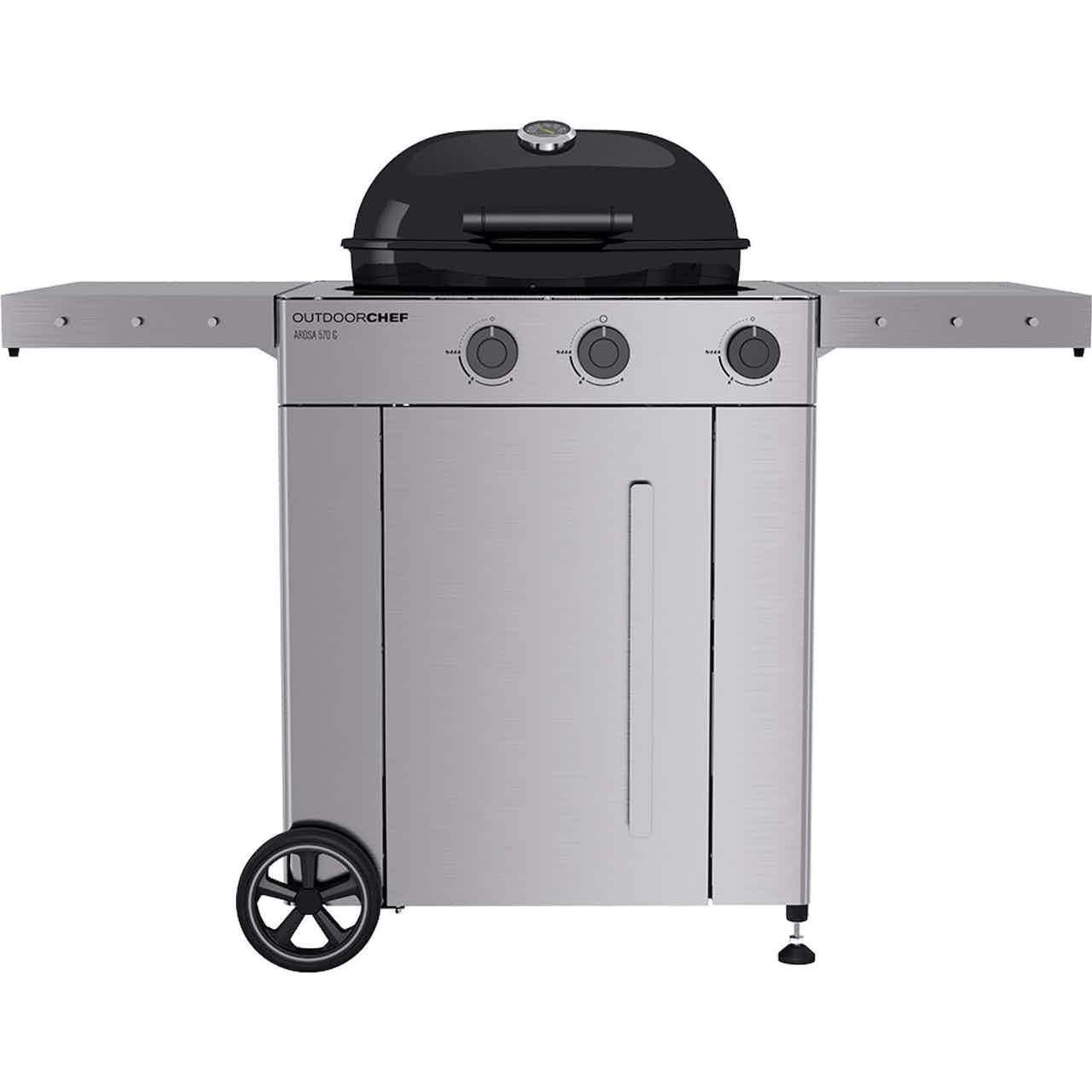 Outdoorchef Gasgrill Arosa 570 G Premium Steel Schwarz Ø 57 cm