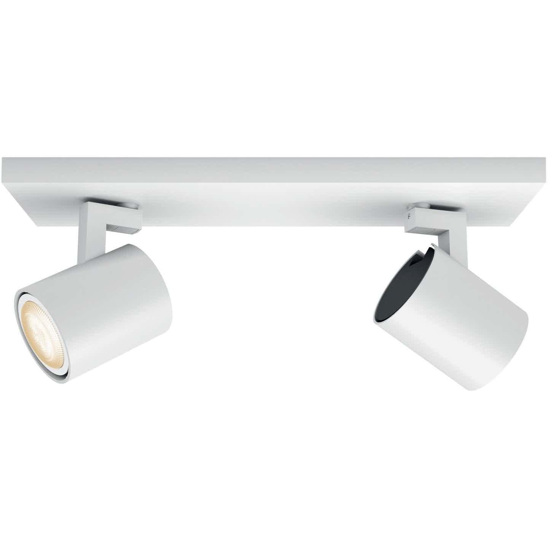 Philips Hue LED-Spot 2er Runner inkl. Dimmschalter Weiß EEK: A