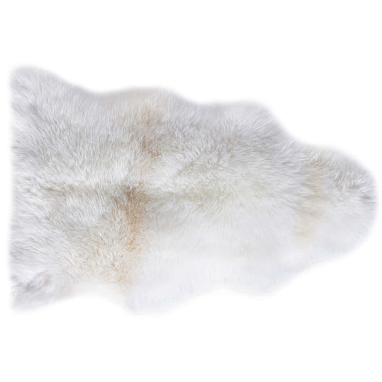 Schaffell Echtfell Naturweiß 60 cm x 85 cm