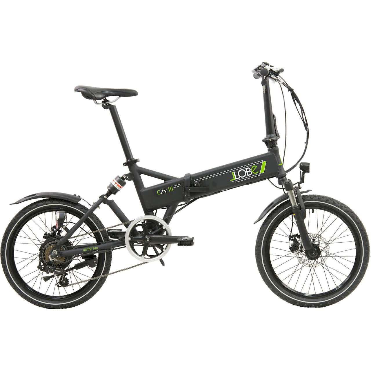"""LLobe E-Bike faltbar 20"""" Alu City III Schwarz"""