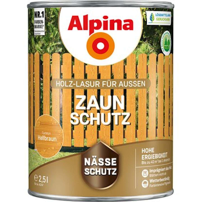 Alpina Zaun-Schutz Hellbraun seidenmatt 2,5 Liter