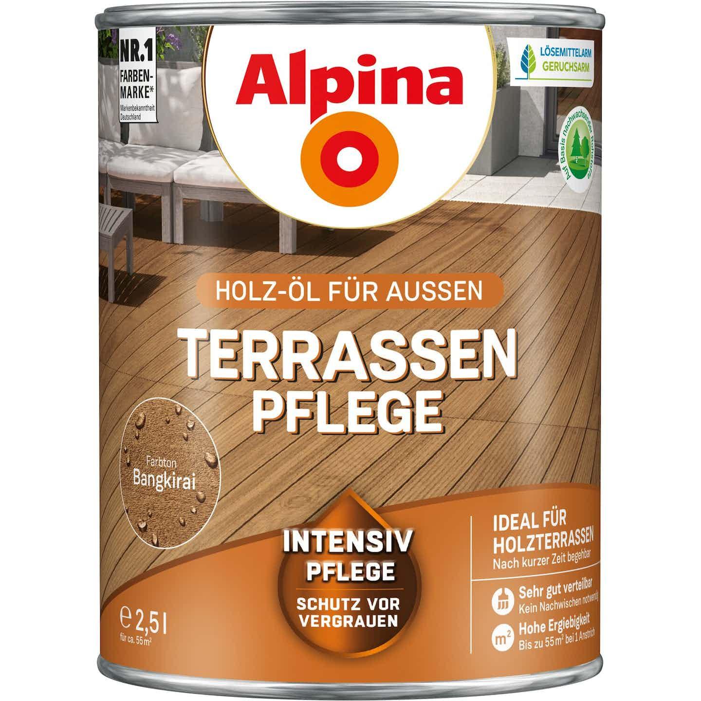 Alpina Terrassen-Pflege Bangkirai seidenmatt 2,5 Liter