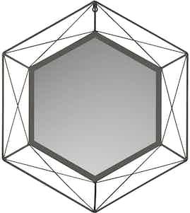 baliv Wandspiegel Industrial 43 cm x37 cm Schwarz