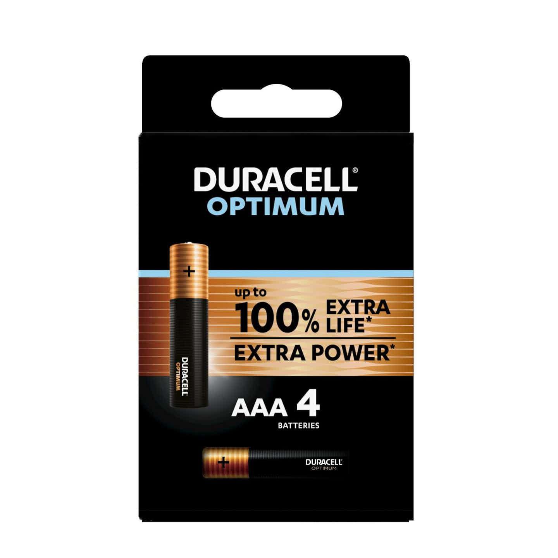Duracell Optimum Batterien AAA Micro, 4 Stück