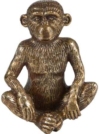 Deko-Figur Affe Sitzend Safari Lodge 11 cm Gold
