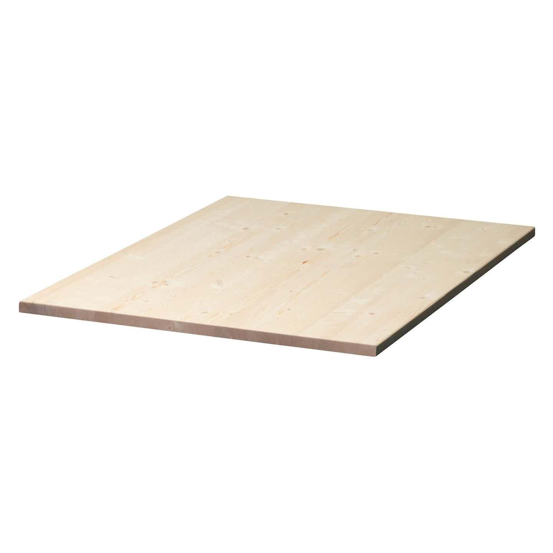 Tischplatte Fichte 120 cm x 80 cm x 2,8 cm