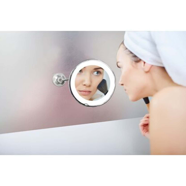 Starlyf Perfect Mirror Kosmetikspiegel Beleuchtet Flexibel 10-fach Vergrößerung