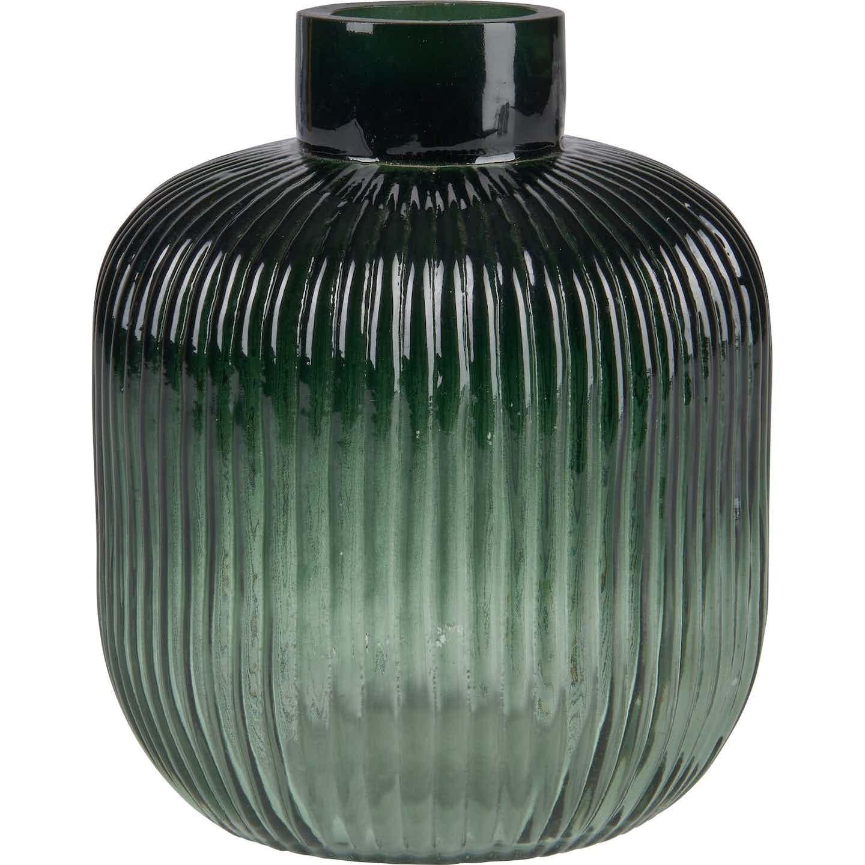 Vase Safari Lodge Glas 15,2 cm x Ø 12,7 cm Grün
