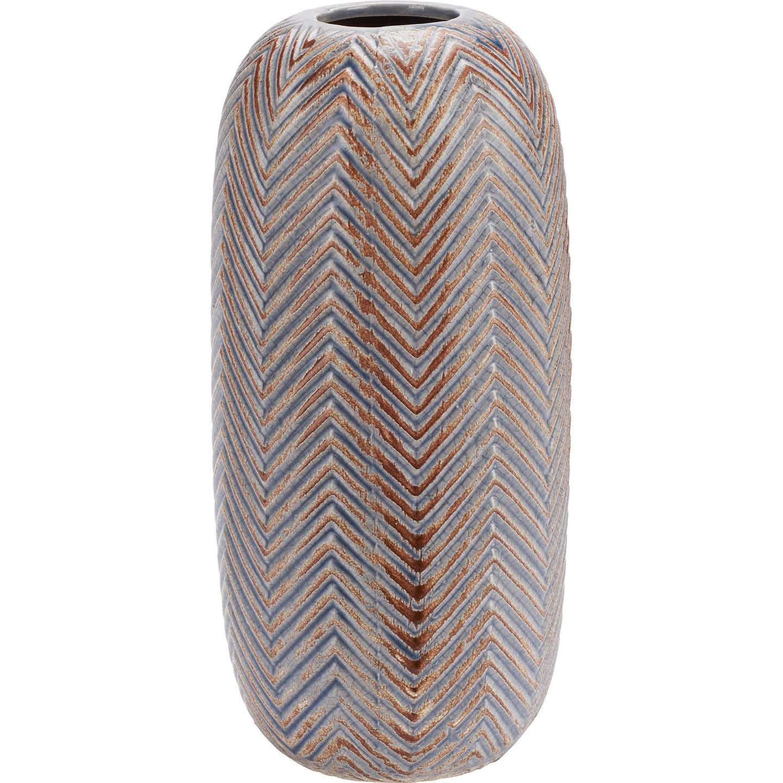 Vase Winter Pastel Ø 12 cm x 25,5 cm Braun-Grau
