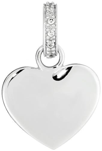 Ce Pendentif CLEOR est en Argent 925/1000 et Oxyde Blanc en forme de Cœur  -