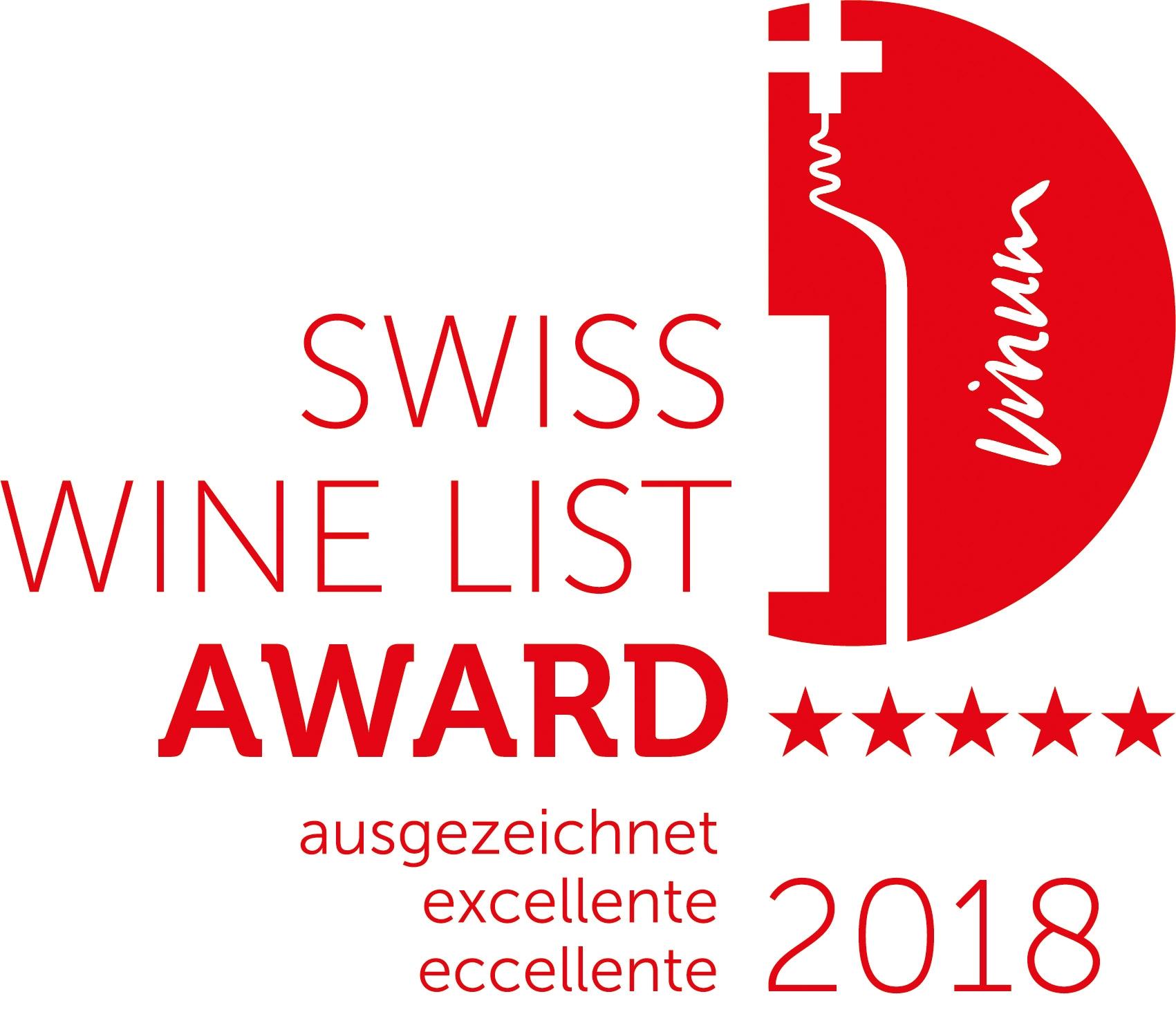 Swiss Wine List Award