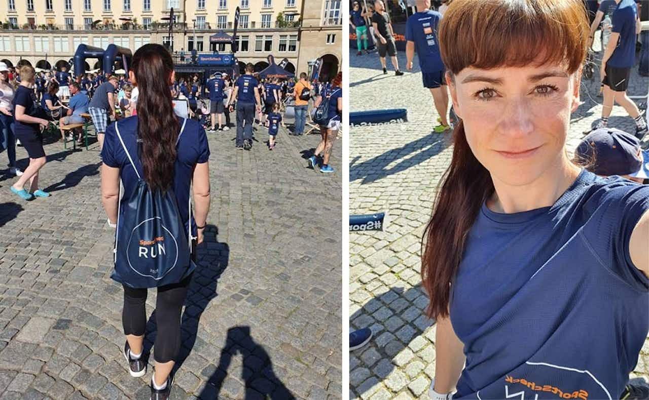 Yvonne beim Run in Dresden