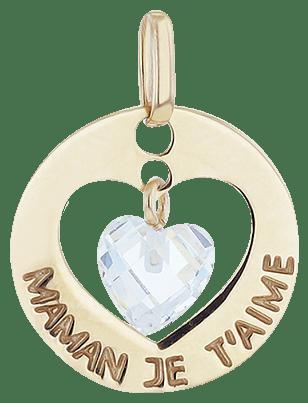 Médaille CLEOR en Or 375/1000 Jaune et Oxyde Blanc