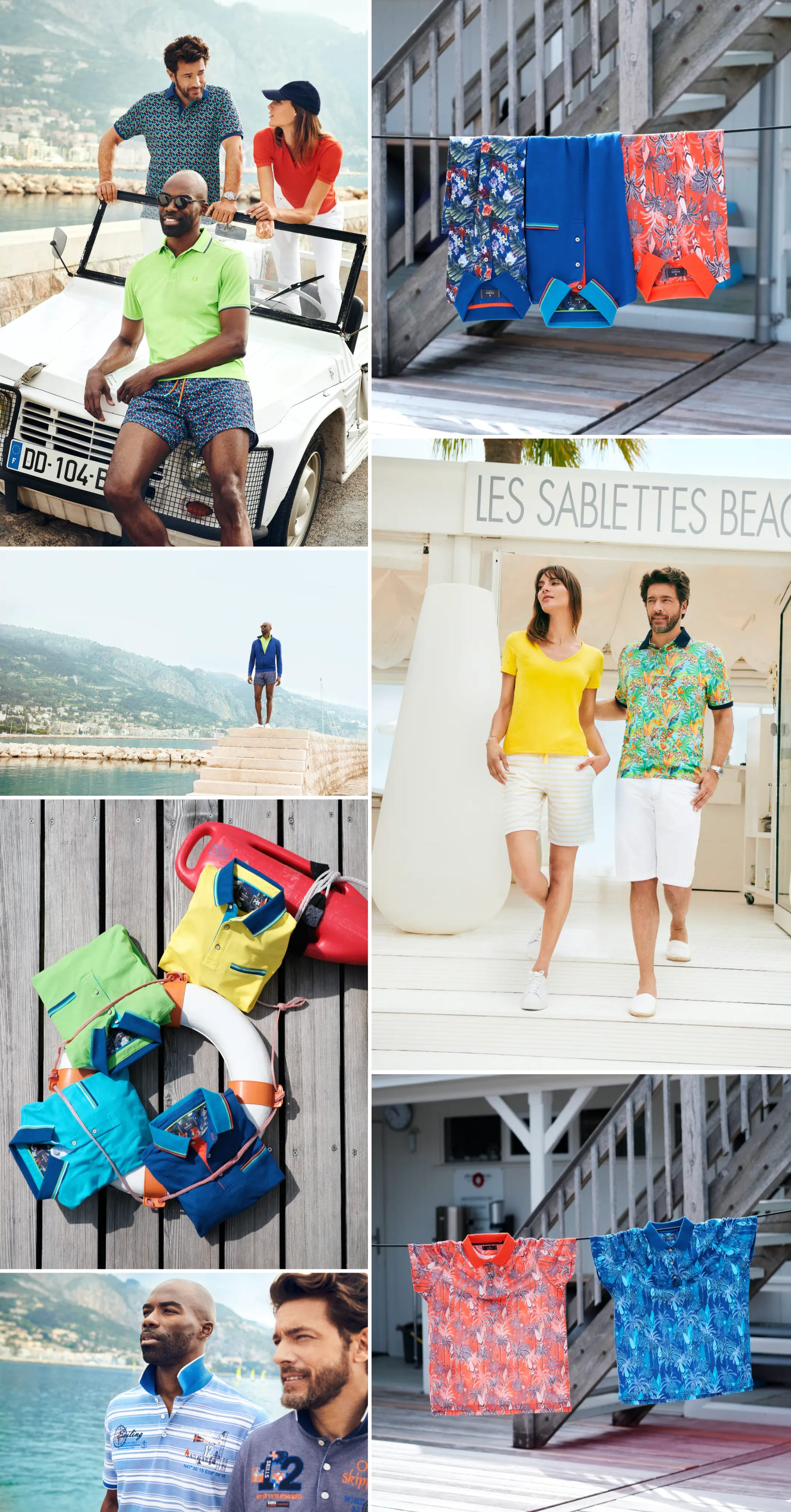 Styles mit Urlaubsfeeling kurzarm Polos Sommer Looks Sommer Outfits Côte d'Azur