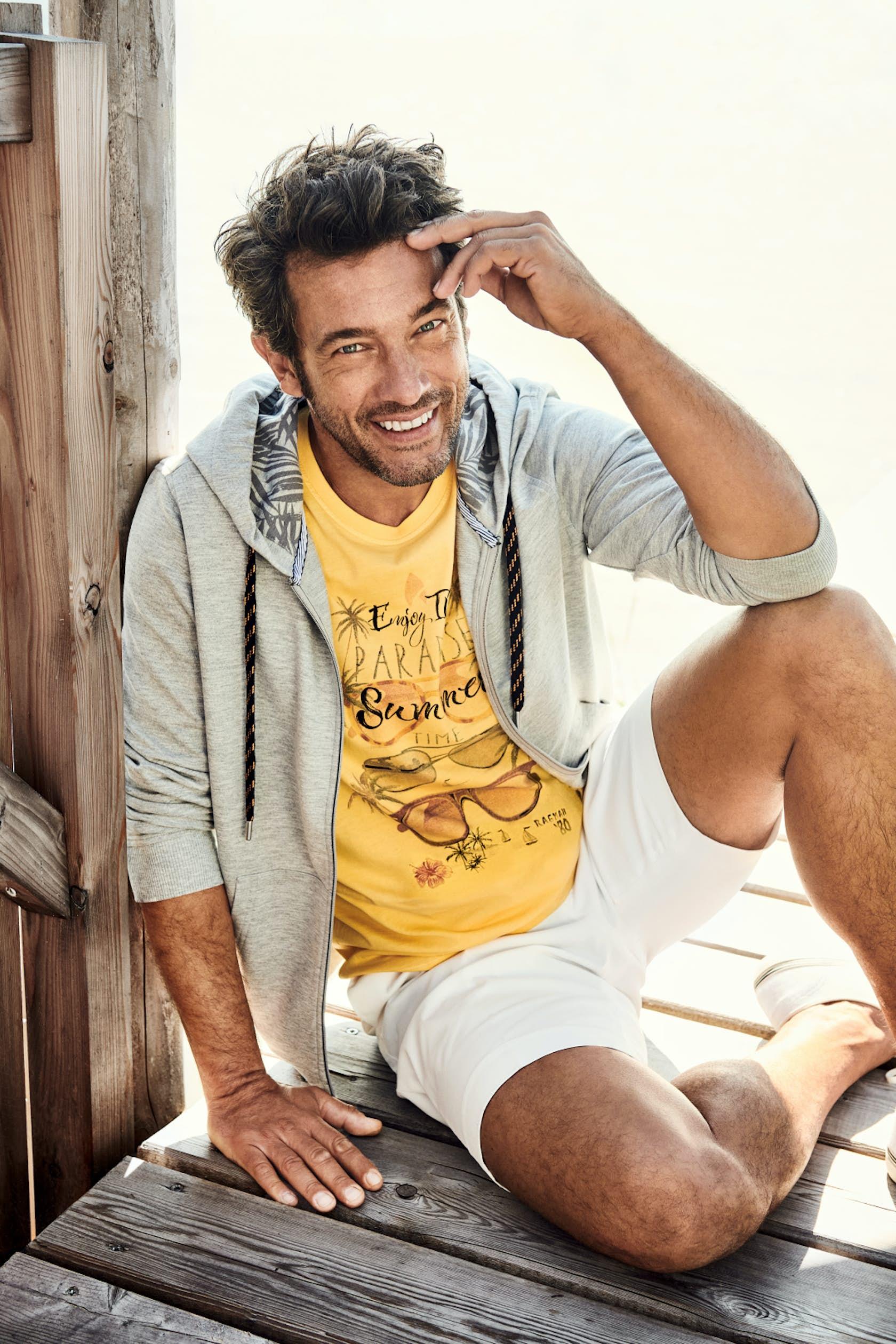 RAGMAN Man of Joy Herren Outfit, T-Shirt und Hoodie