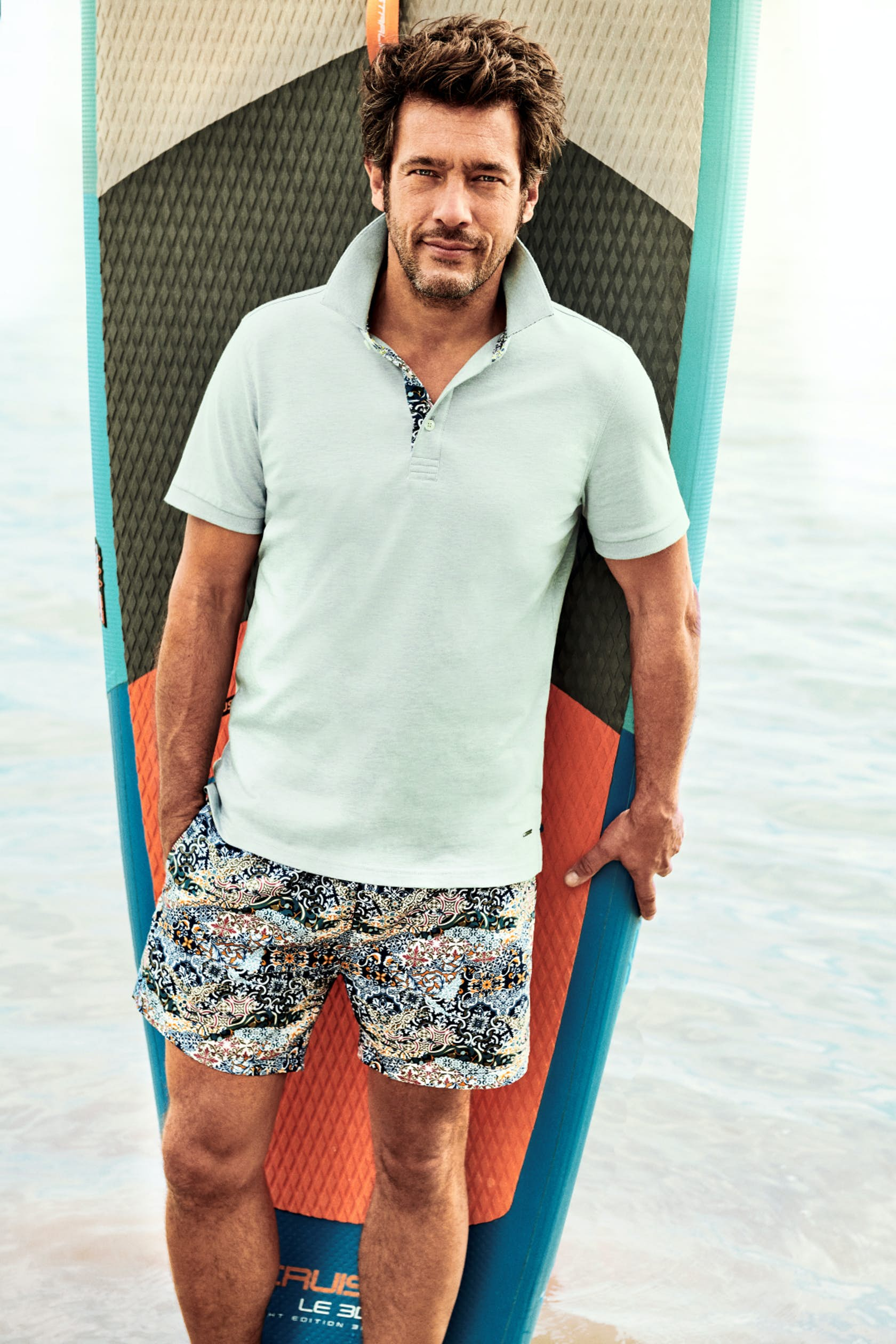 RAGMAN Man of Joy Herren Outfit, Poloshirt und Shorts