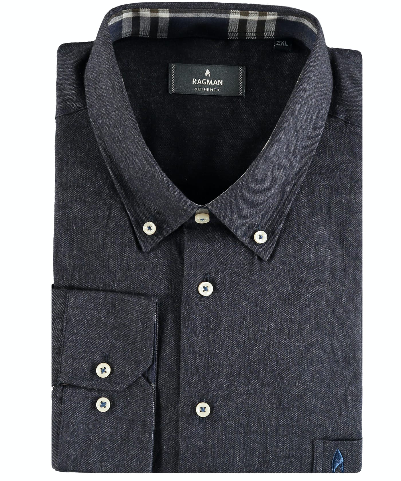 Uni-Hemd mit Button-down-Kragen