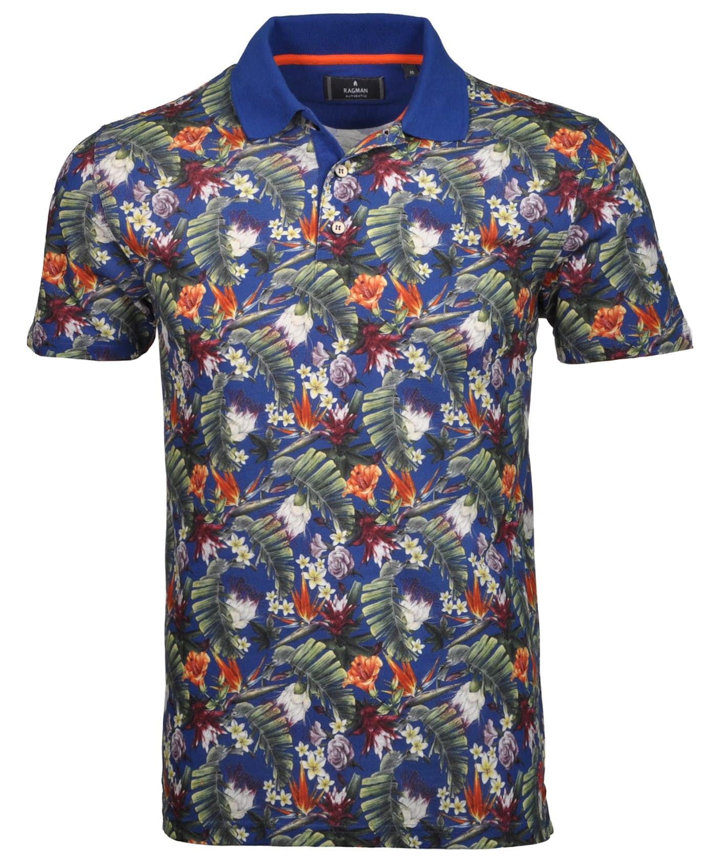 RAGMAN Poloshirt mit Hawai-Print