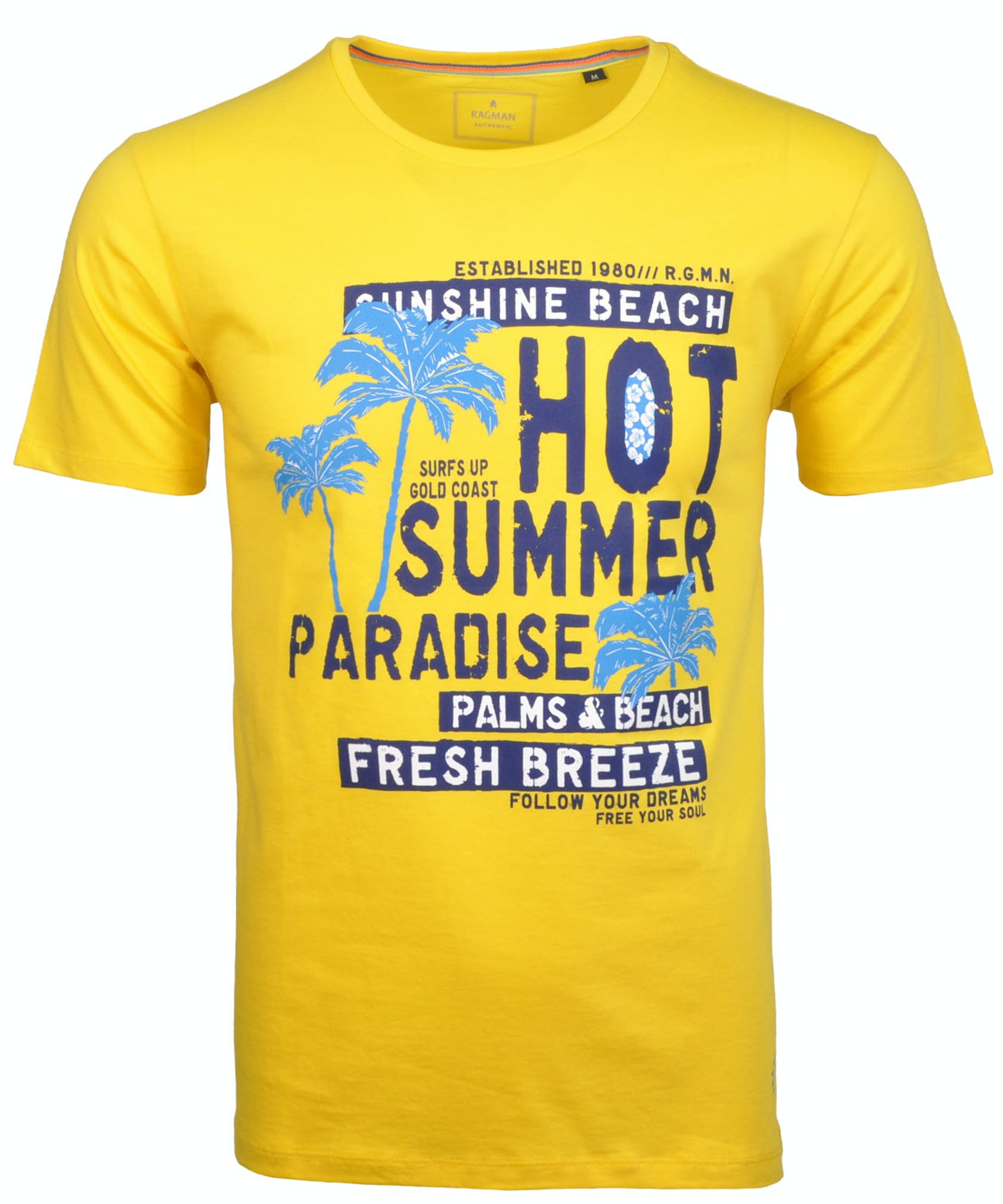 Rundhals-T-Shirt mit Print