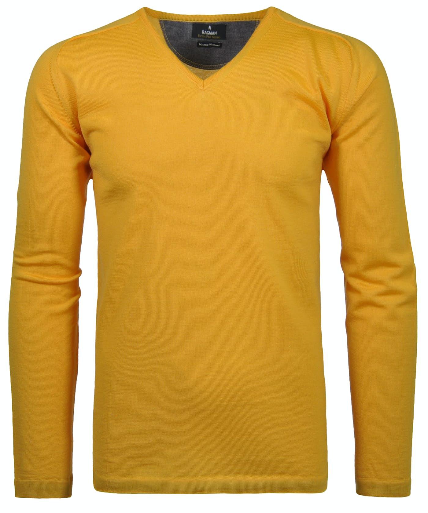 RAGMAN V-Neck-Pullover Merino
