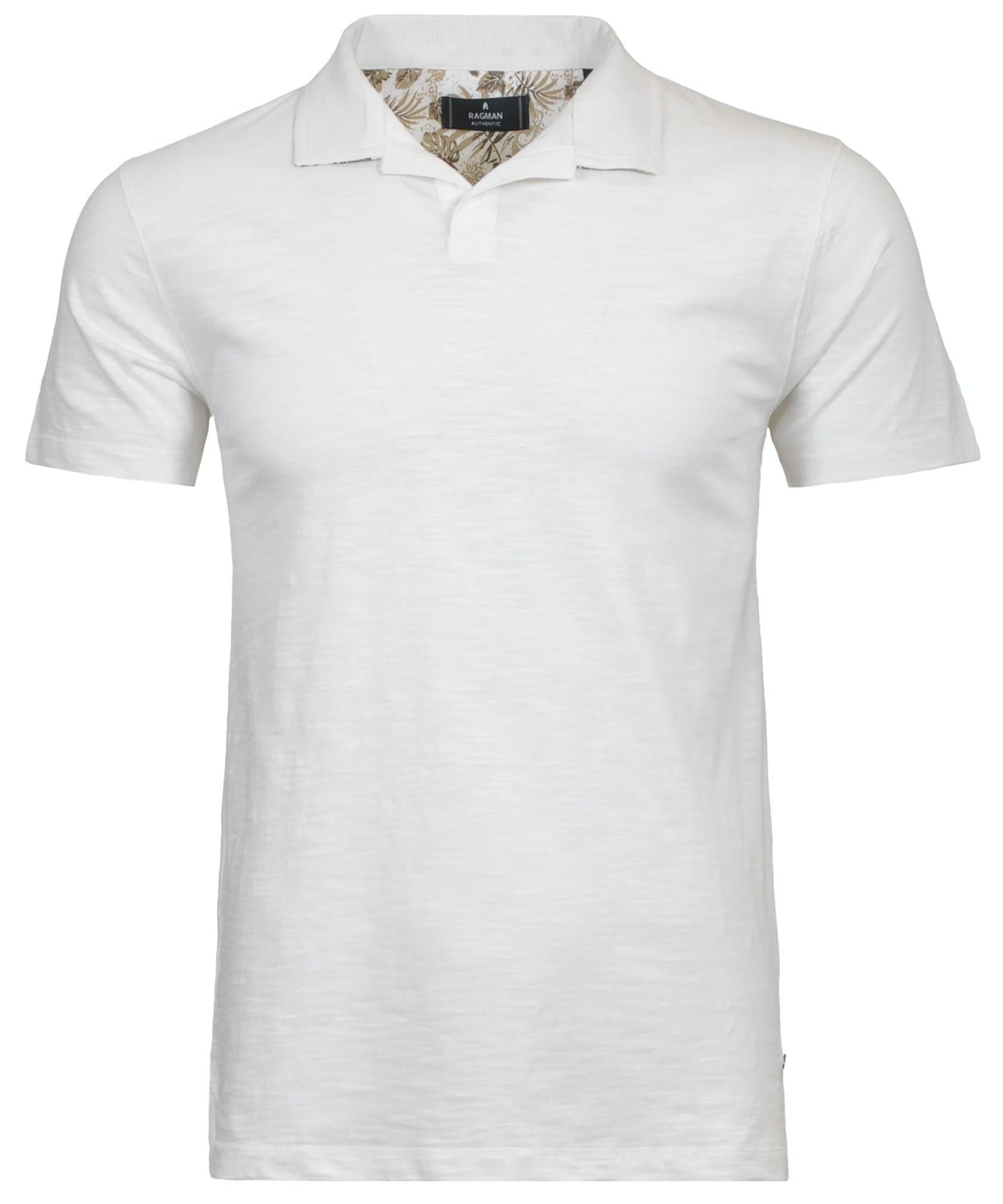 Poloshirt mit offenem Kragen