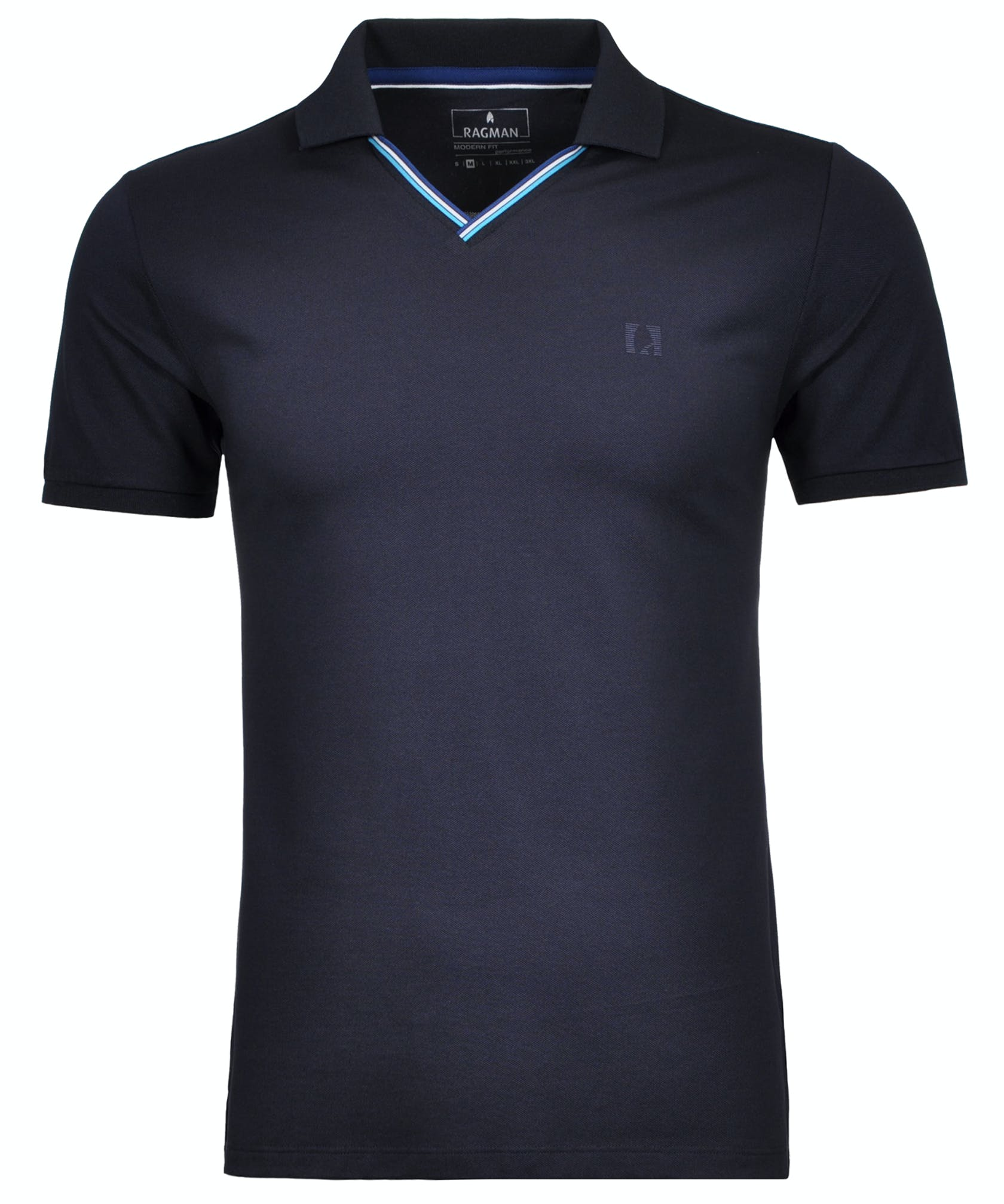 "RAGMAN Piqué-Polo mit V-Neck ""keep dry"""