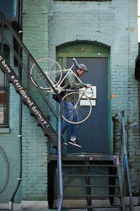 Michi von BMTC mit dem Fahrrad
