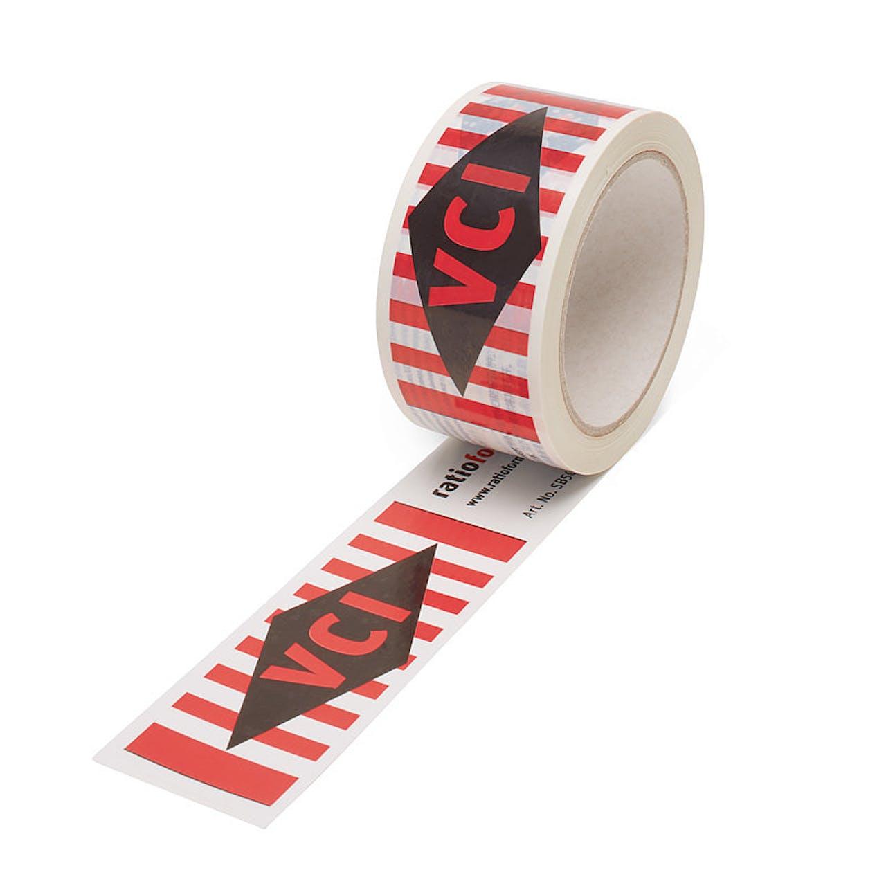 VCI-Warnband (PVC), 50 mm Rollenbreite