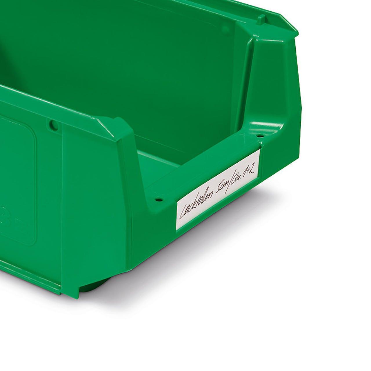Etiketten für Sichtlagerkästen aus Kunststoff