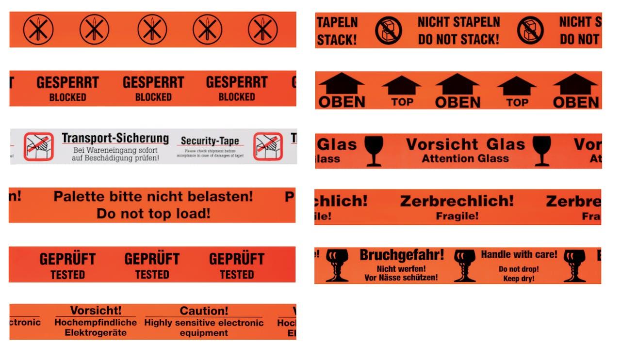 Übersicht Warnbänder