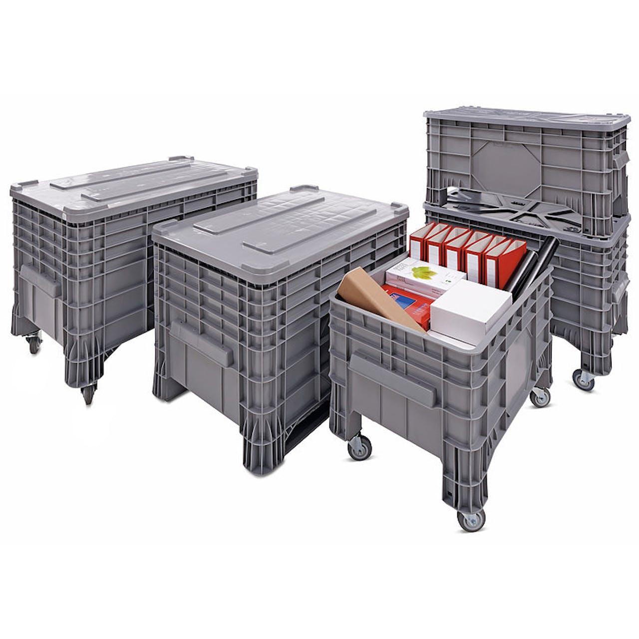 Großbehälter Standard, Außenmaße L x B x H 1200 x 800 x 800 mm, mit 4 Füßen