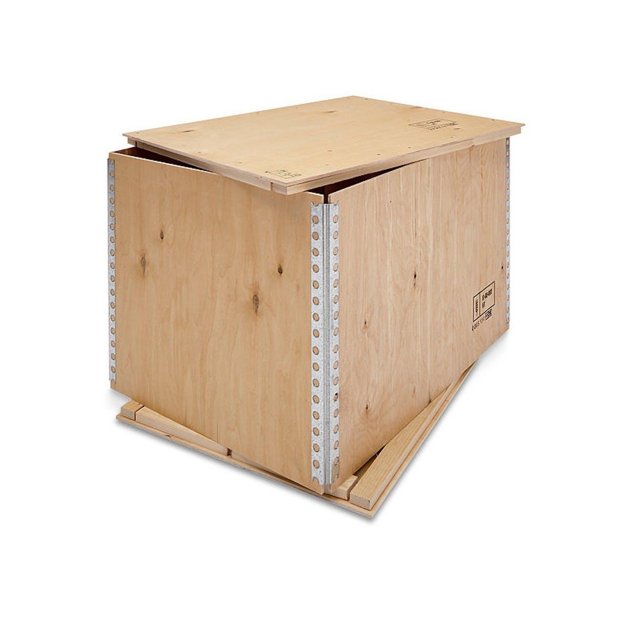 Faltkiste aus Sperrholz, 1180 x 740 x 380 mm, Europalette, 14 kg Eigengewicht