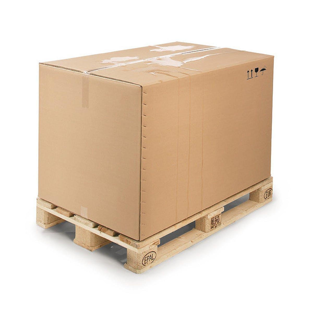 Exportbox, wasserabweisend, 1170 x 770 x 940 mm, Palettenmaß 1 Euro