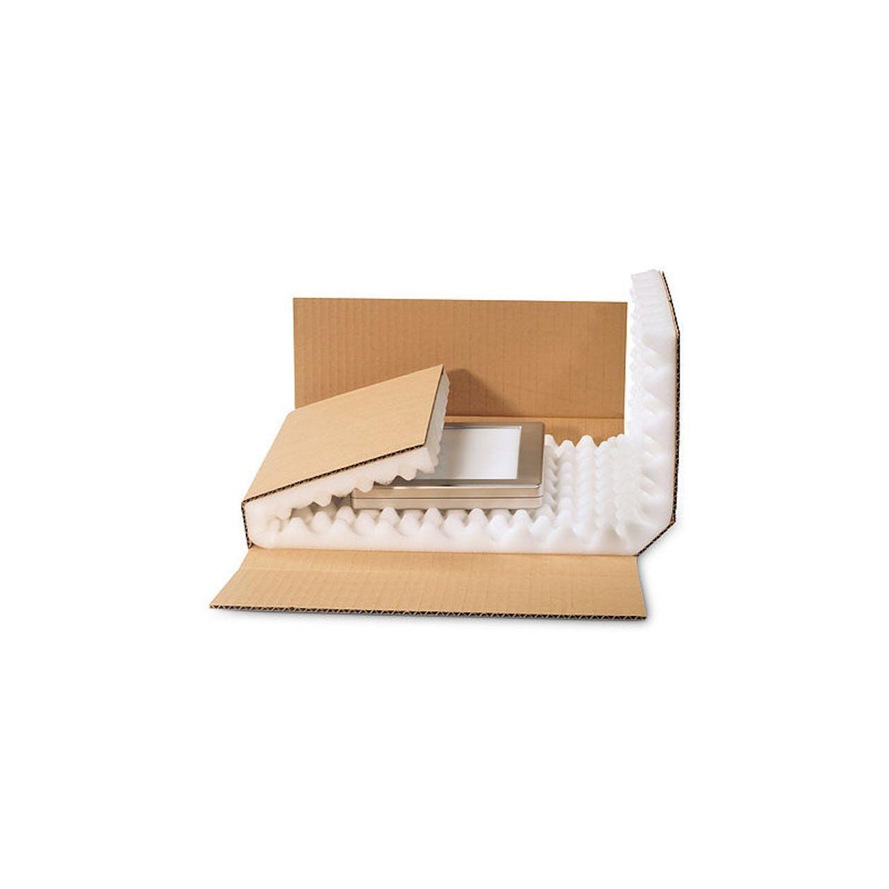 Kreuzverpackung mit Schaumpolster, 430 x 310 x 50 mm, DIN A3, 30 mm Schaumhöhe