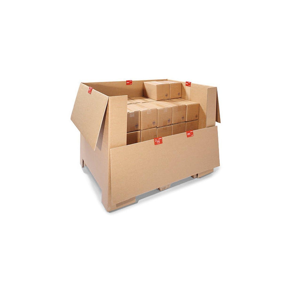 Karton für Pressholz-Palette, 1200 x 800 x 790 mm, 1 Europalette, 2-wellig