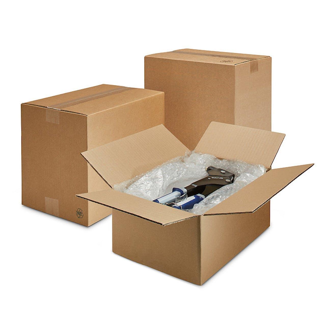 Wellpapp-Faltkarton, 3-wellig, 1100 x 1100 x 650 mm, 1 Container Palettenmaß