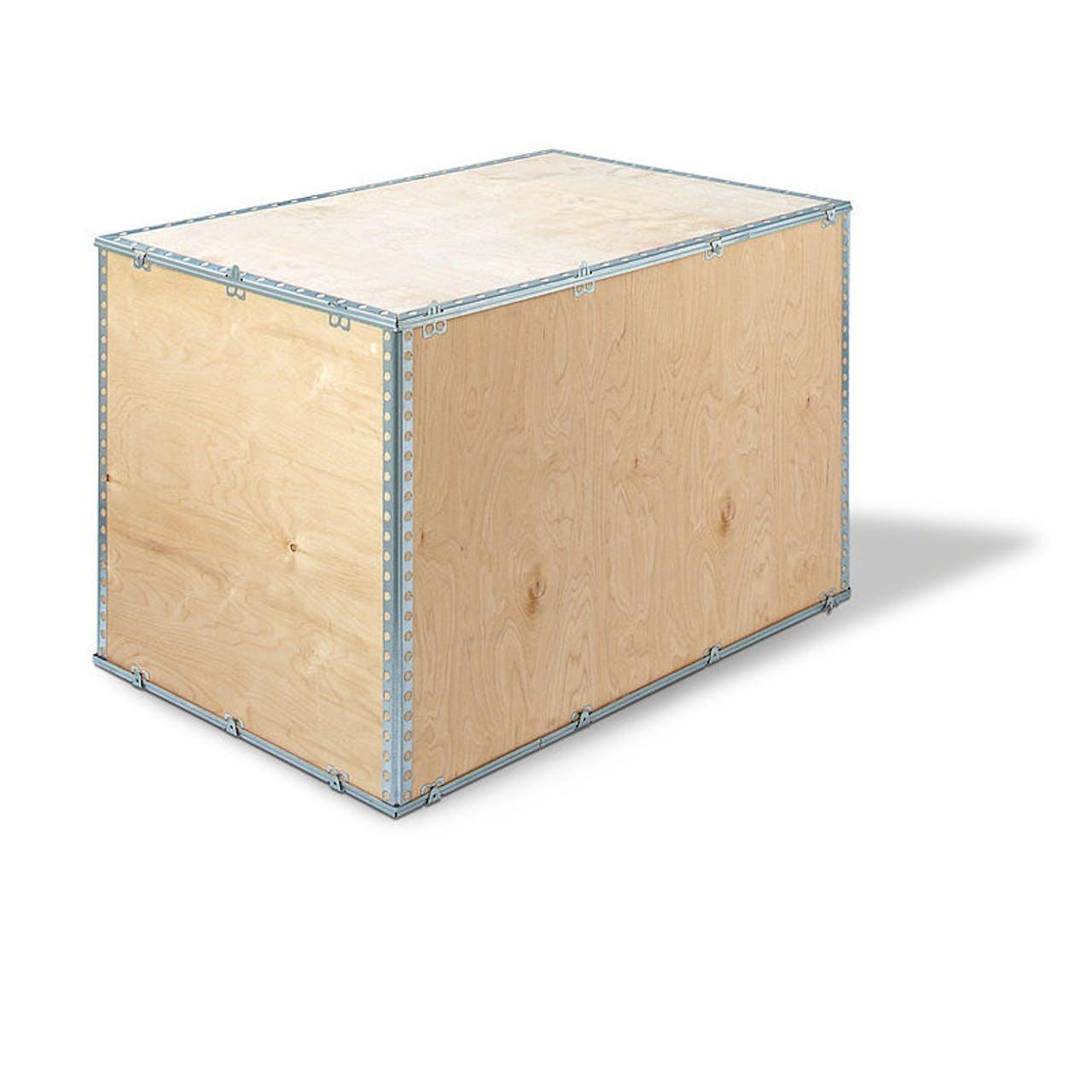 Holzfaltkiste, 1180 x 780 x 370 mm innen, 16 kg, Europalettenmaß