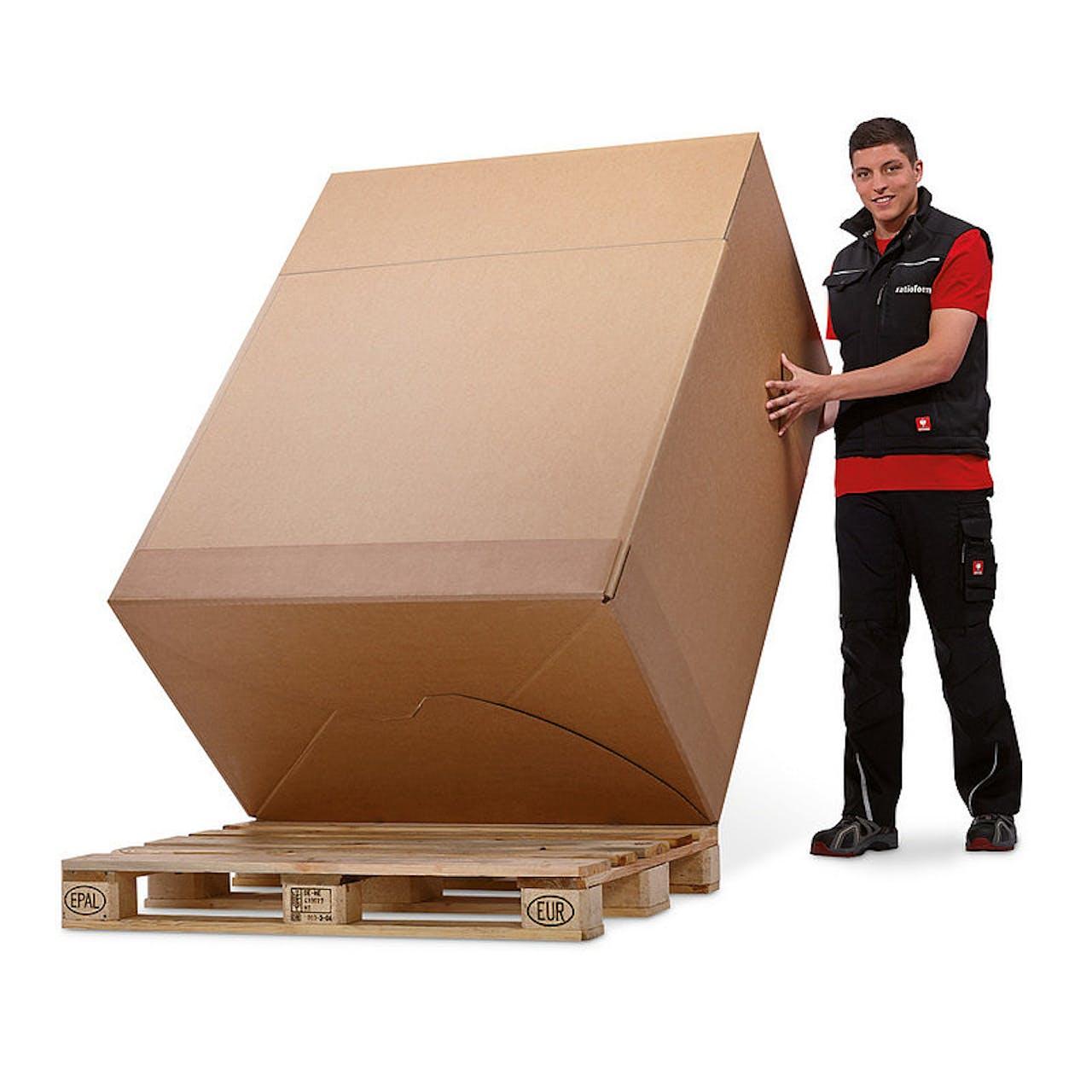 Palettencontainer, 1185 x 780 x 540 mm, Palettenmaß 1 Euro, 2-wellig